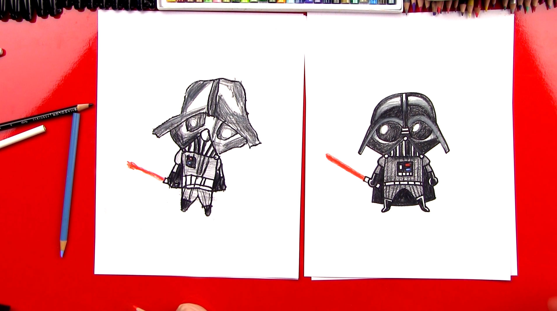 1911x1069 How To Draw A Cartoon Darth Vader