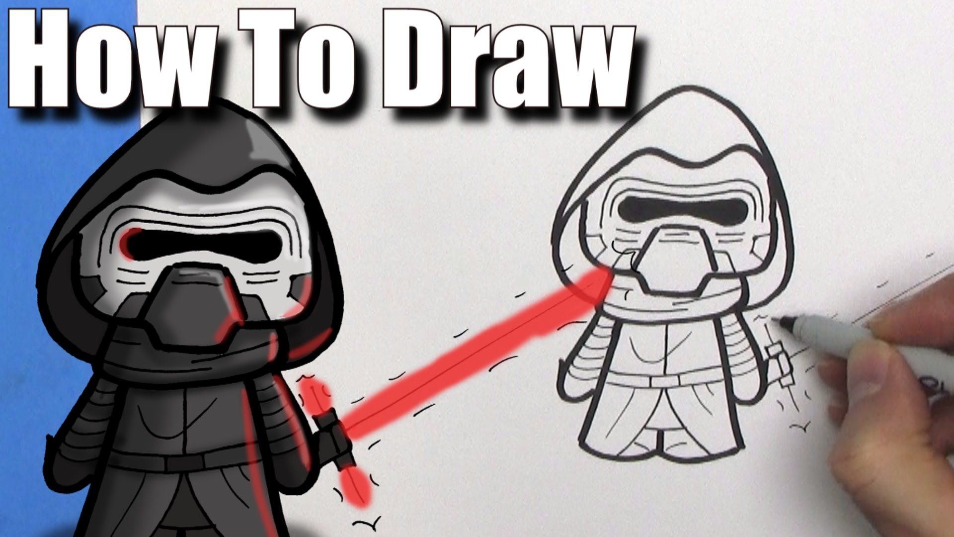 1920x1080 How To Draw A Cute Cartoon Kylo Ren