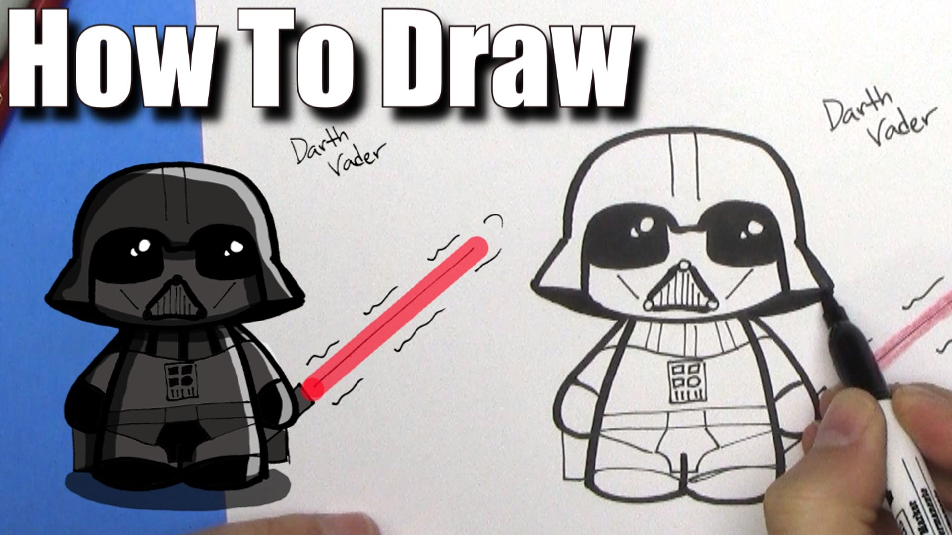 1920x1080 How To Draw Cute Darth Vader