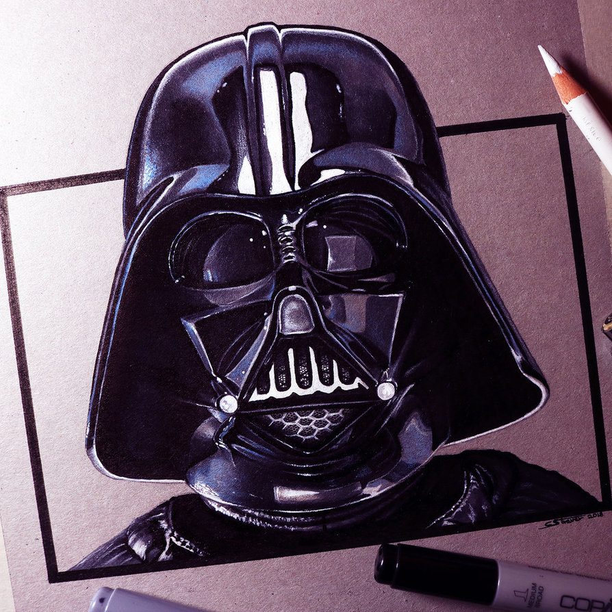 894x894 Darth Vader Drawing By Lethalchris