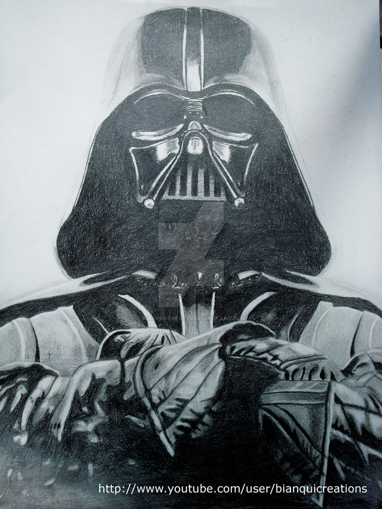 774x1032 Darth Vader Drawing By Bianqui Creates