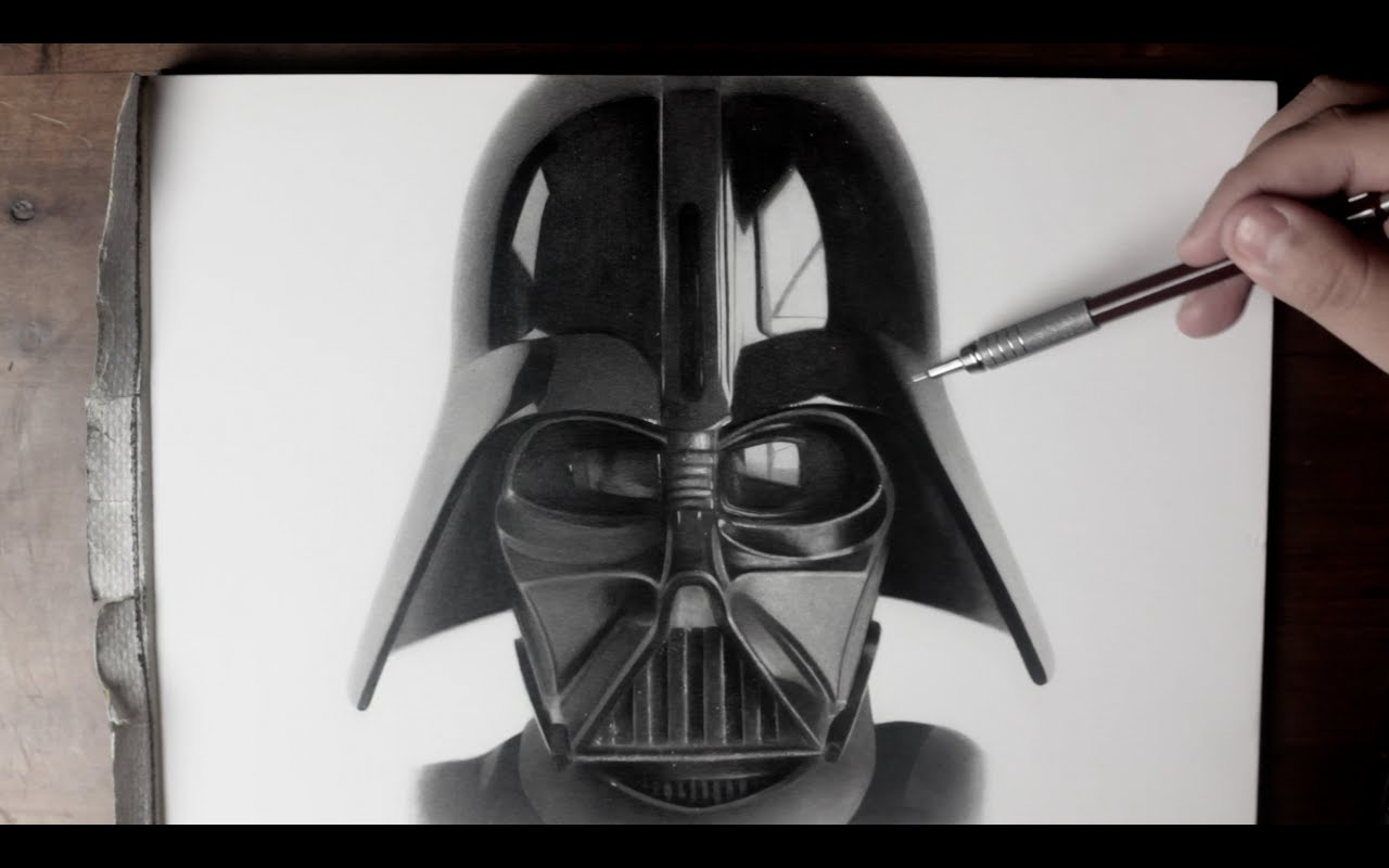1280x800 Darth Vader Drawing Time Lapse (Star Wars Fan Art)