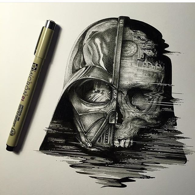 640x640 Darth Vader Drawing Artwork On Instagram Drawing Tipsideas