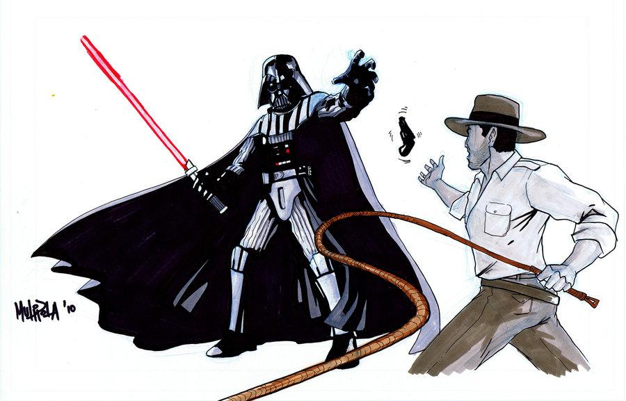 900x577 Darth Vader Vs Indiana Jones By Bloodysamoan