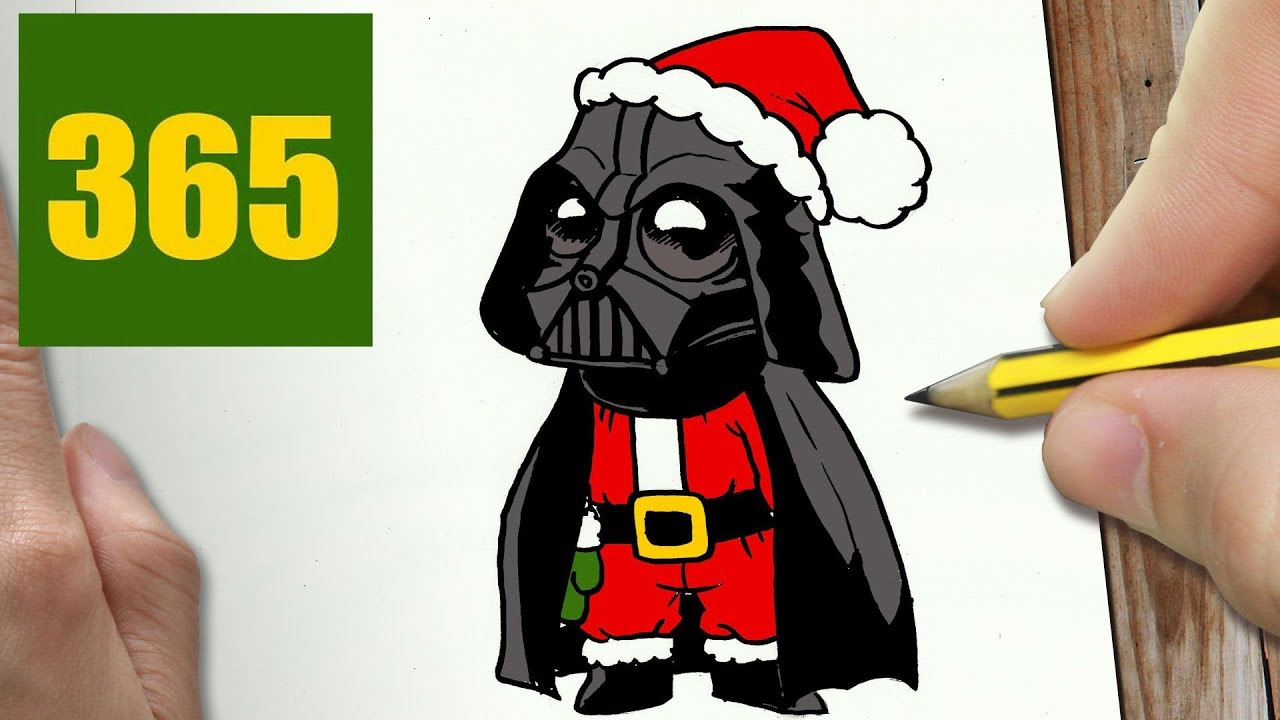 1280x720 How To Draw A Darth Vader Christmas Cute, Easy Step By Step