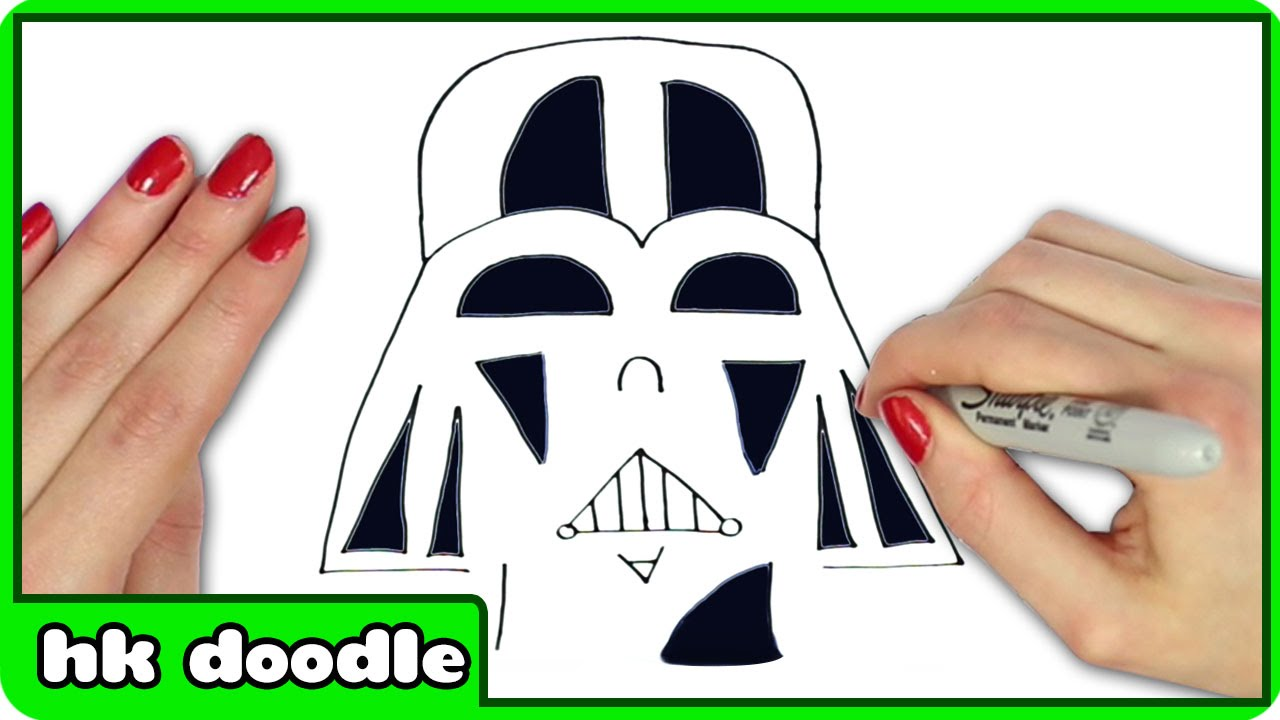 1280x720 How To Draw Darth Vader From Star Wars