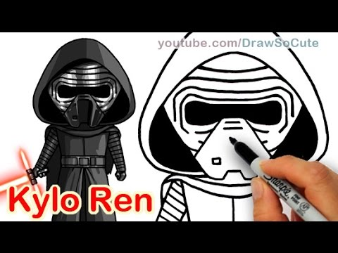 480x360 How To Draw Star Wars Kylo Ren Step By Step Cute The Force Awakens