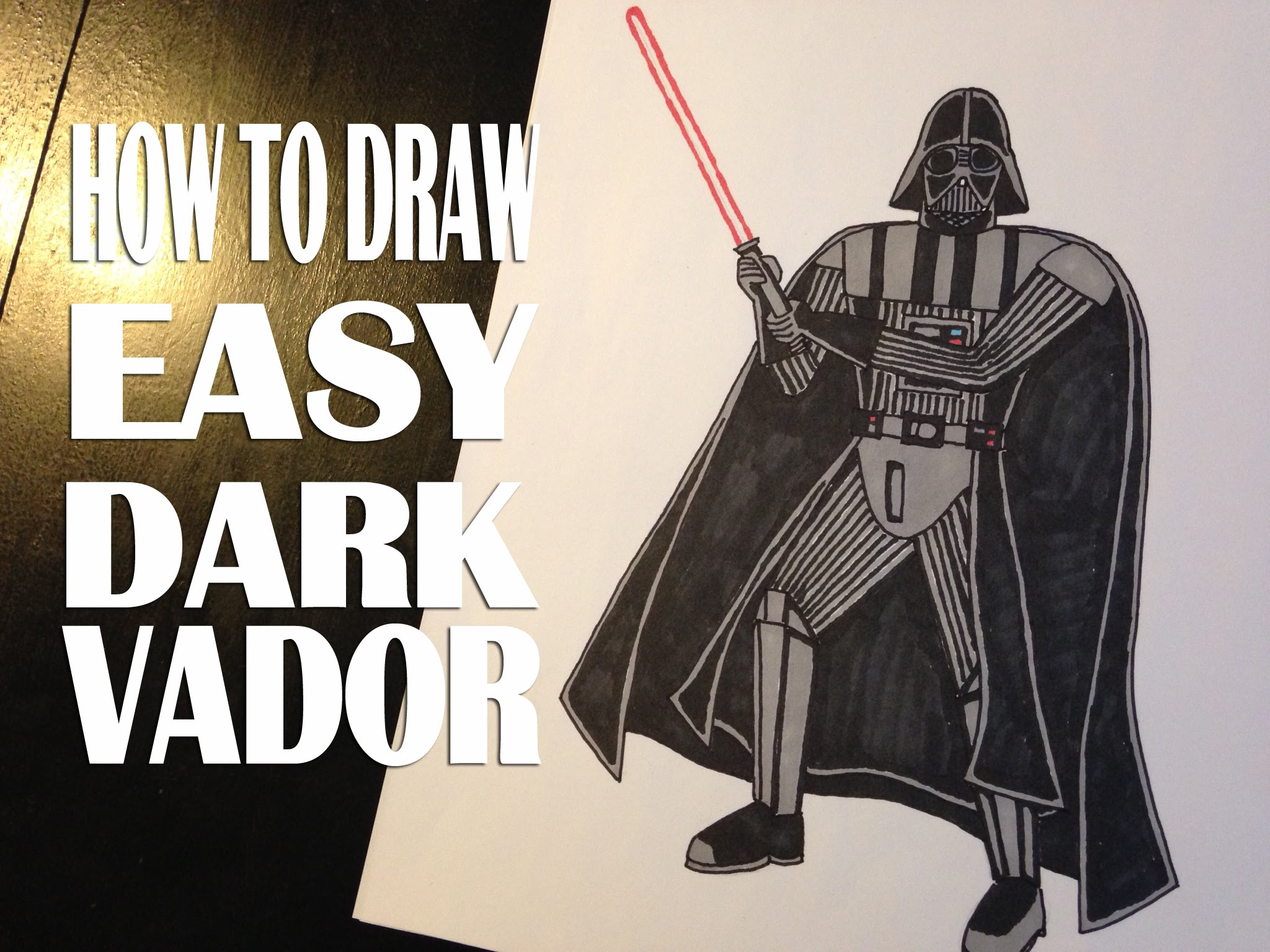 2048x1536 How To Draw Darth Vader Star Wars Easy Step By Step