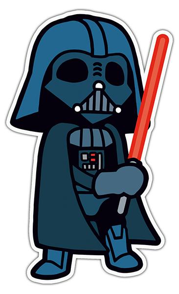 366x600 Sticker Darth Vader Drawing