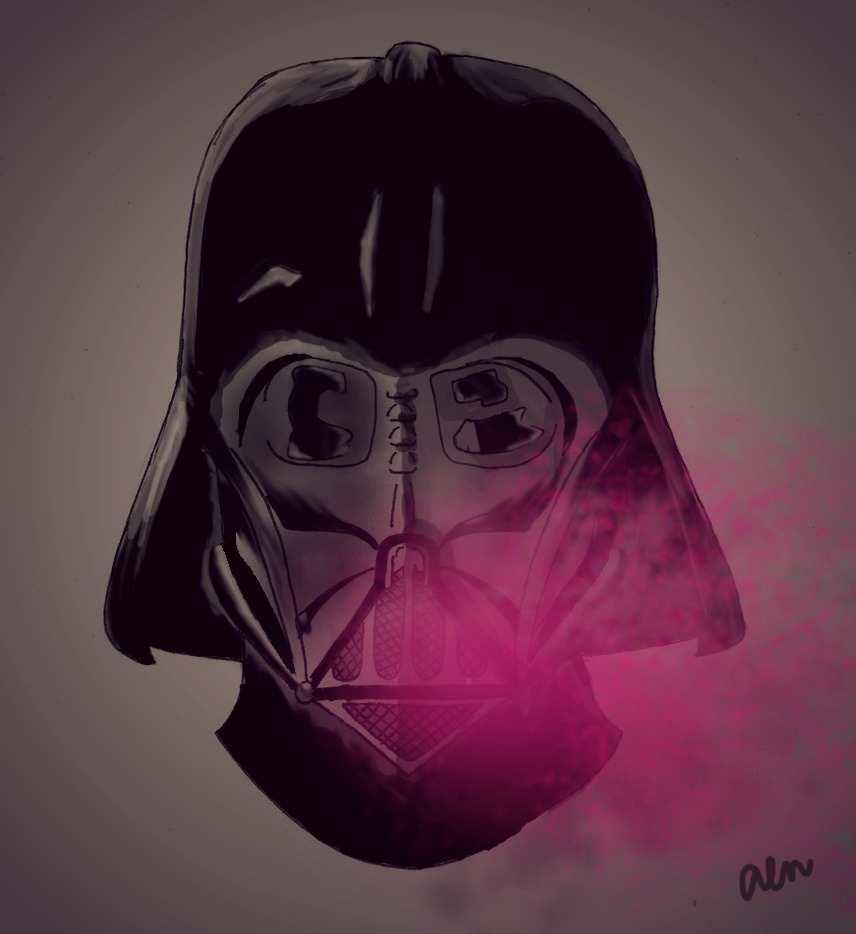 856x934 Darth Vader Breathes Pink What's Up