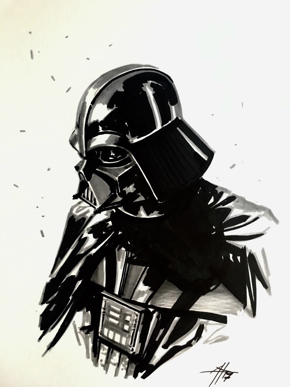 960x1280 Gabriele Dell'Otto Vader Convention Markers On Paper