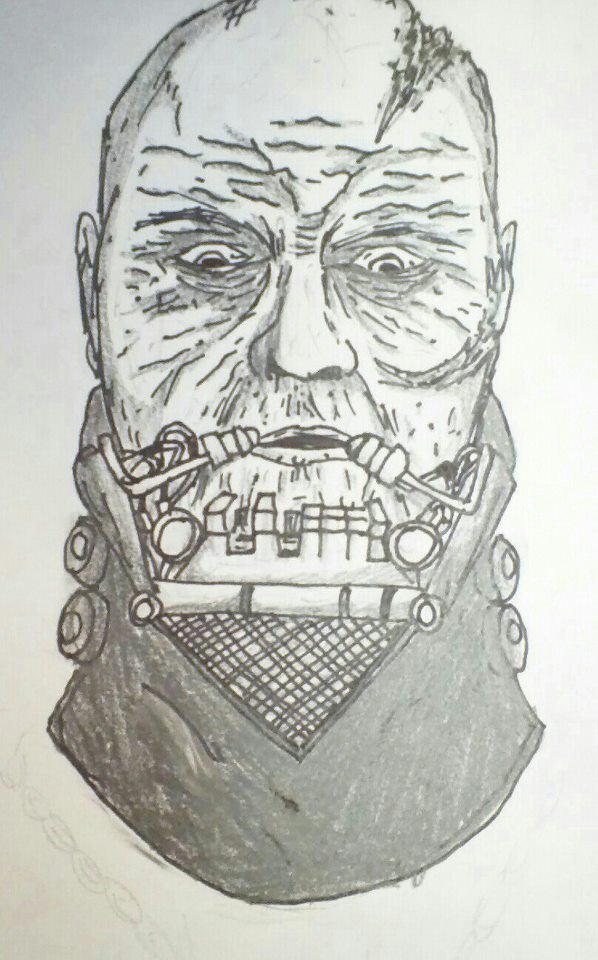 598x960 First Time Drawing Darth Vader (Without Mask) By Legendarybatman