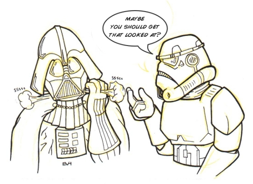 500x364 Doodle 154 Vader's Mask Leaking Doodle A Day