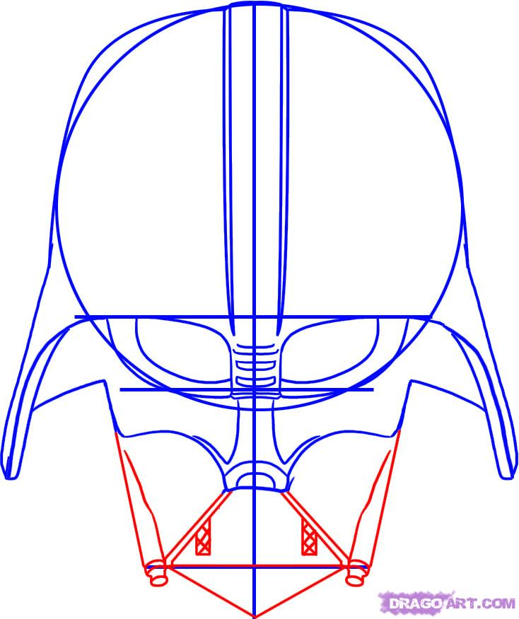 734x876 Styles How To Draw Darth Vader Dragoart As Well As How To Draw