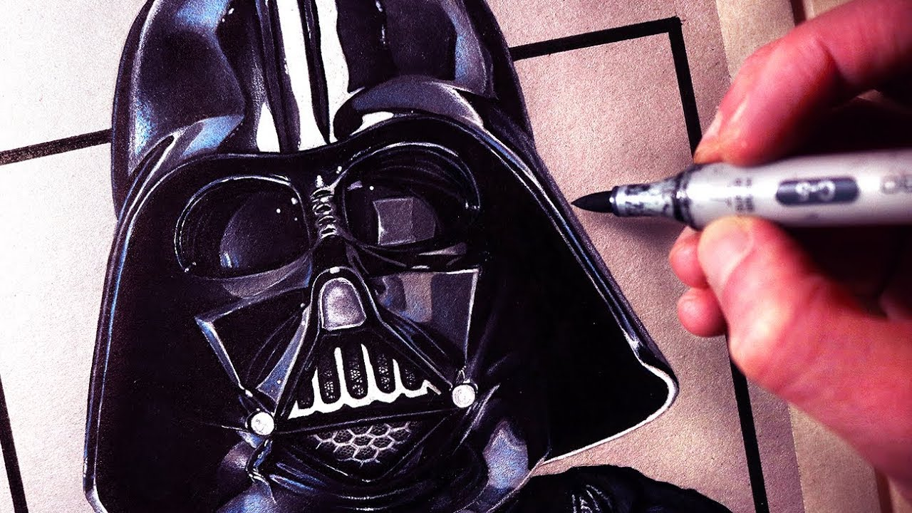 1280x720 Let's Draw Darth Vader