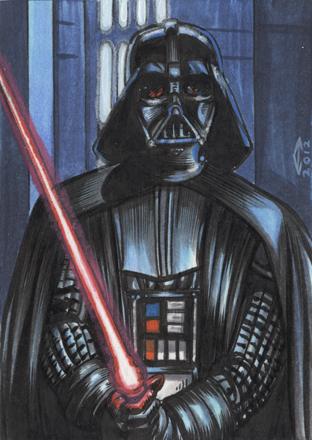 312x440 Darth Vader 1 Sketch Card By Ahochrein2010