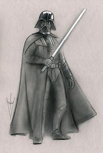 203x300 Darth Vader Drawing 12 X 18