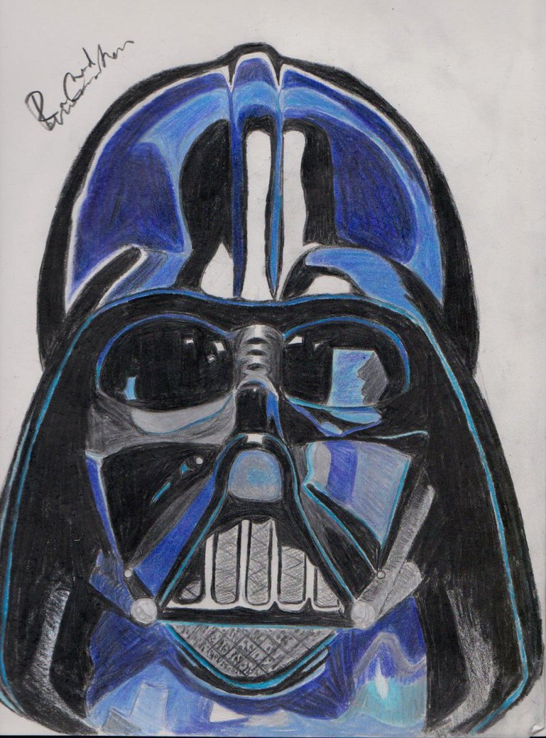 769x1039 Darth Vader In Color Pencil By Rached33