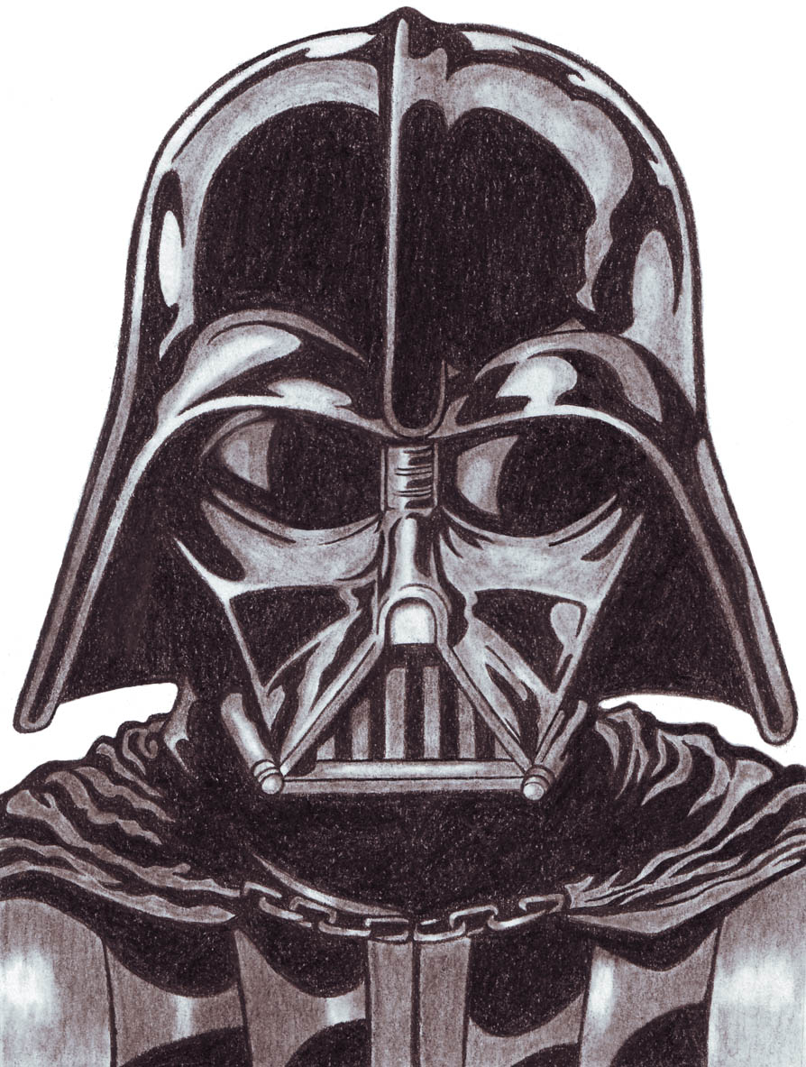 894x1183 Darth Vader Pencil Drawing Darth Vader Star Wars Original Hand