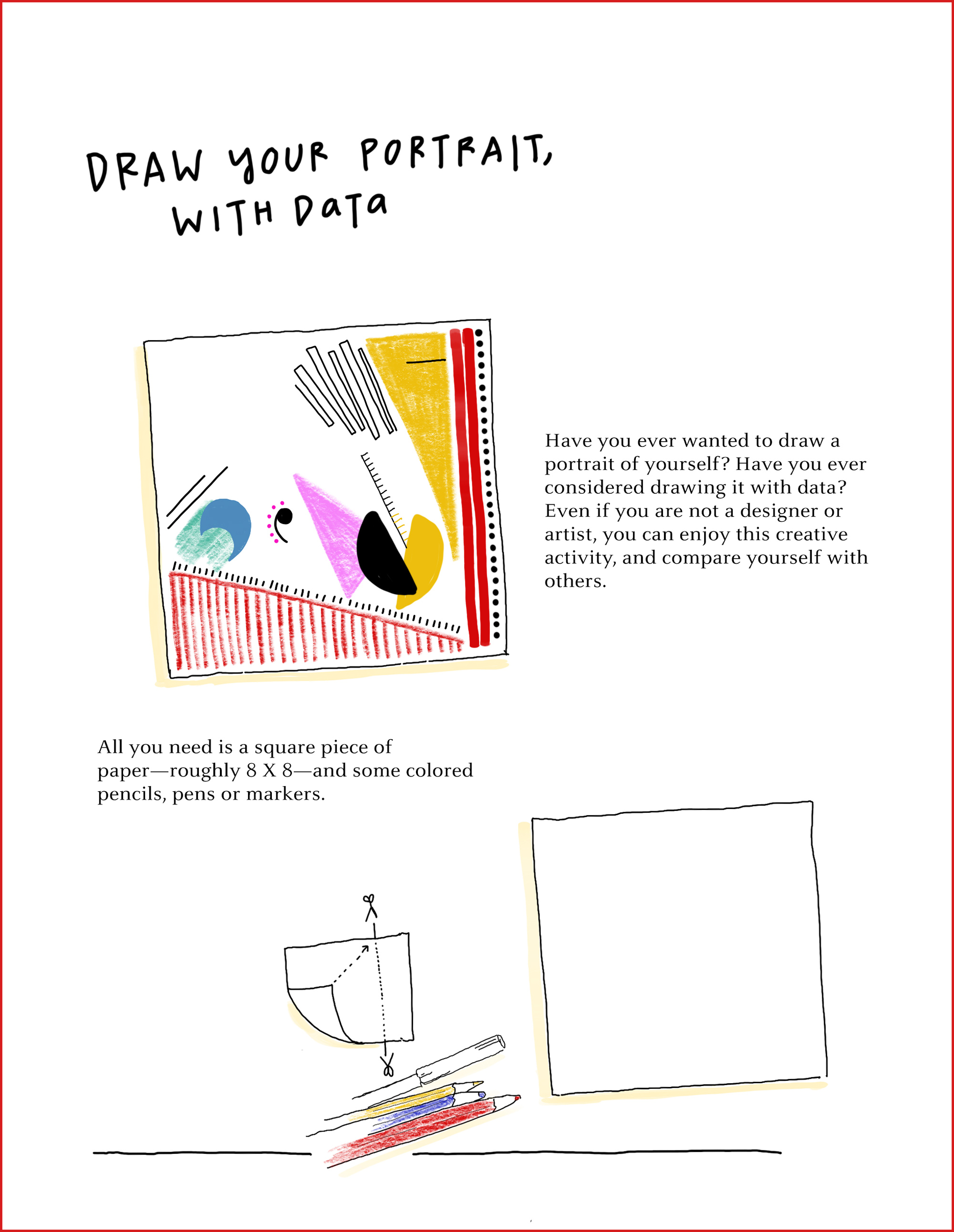 2000x2583 How To Draw Your Own Selfie Using Your Personal Data