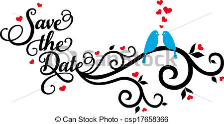 450x249 Save The Date, Wedding Birds, Vecto. Save The Date Wedding Clip