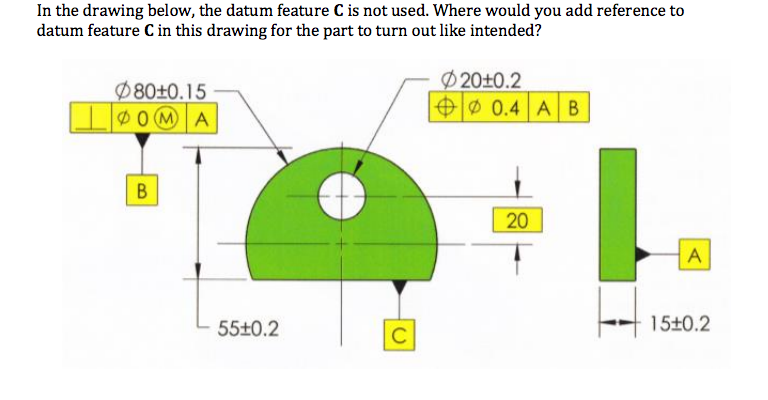 768x400 Solved In The Drawing Below, The Datum Feature C Is Not U