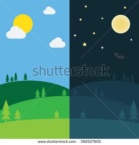 450x470 Equinox Half Day Half Night. Day And Night Background