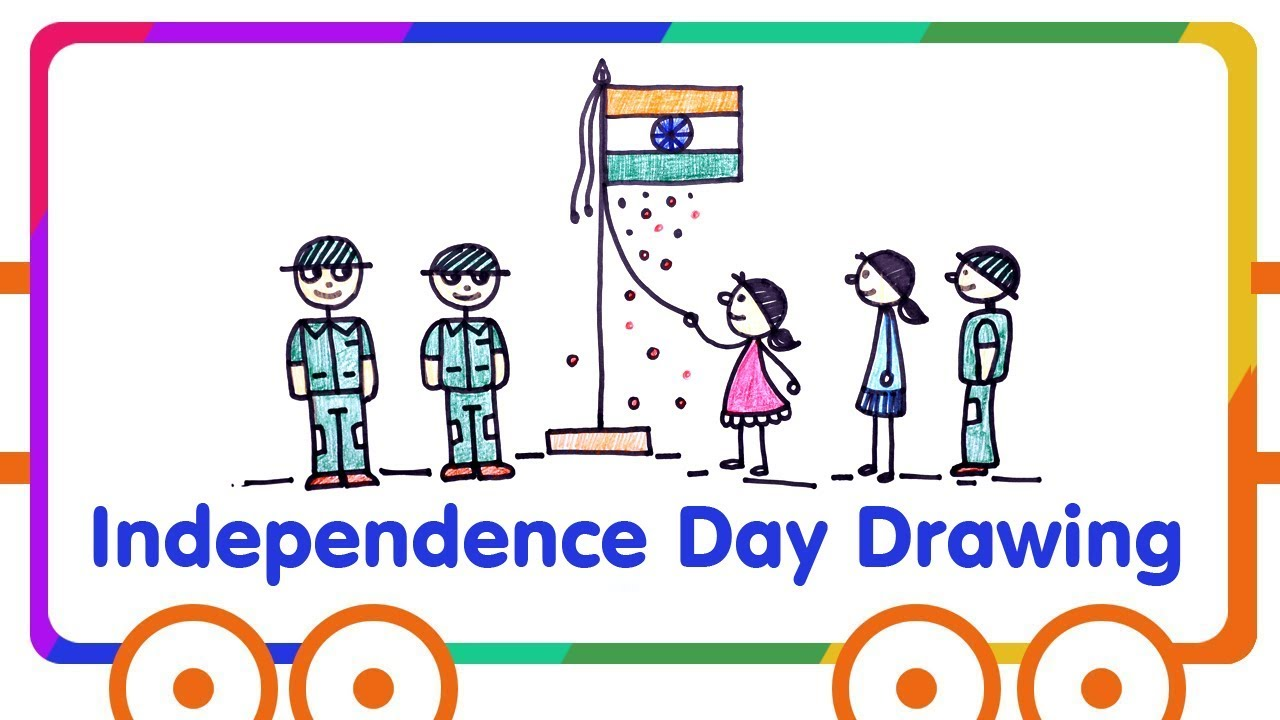 1280x720 Independence Day Drawing
