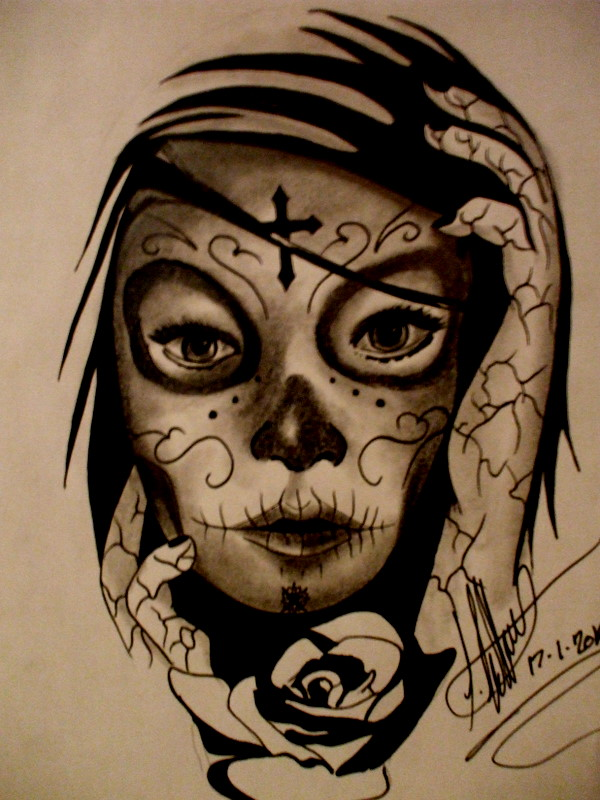 600x800 Day Of The Dead Girl By Xxevillovexx
