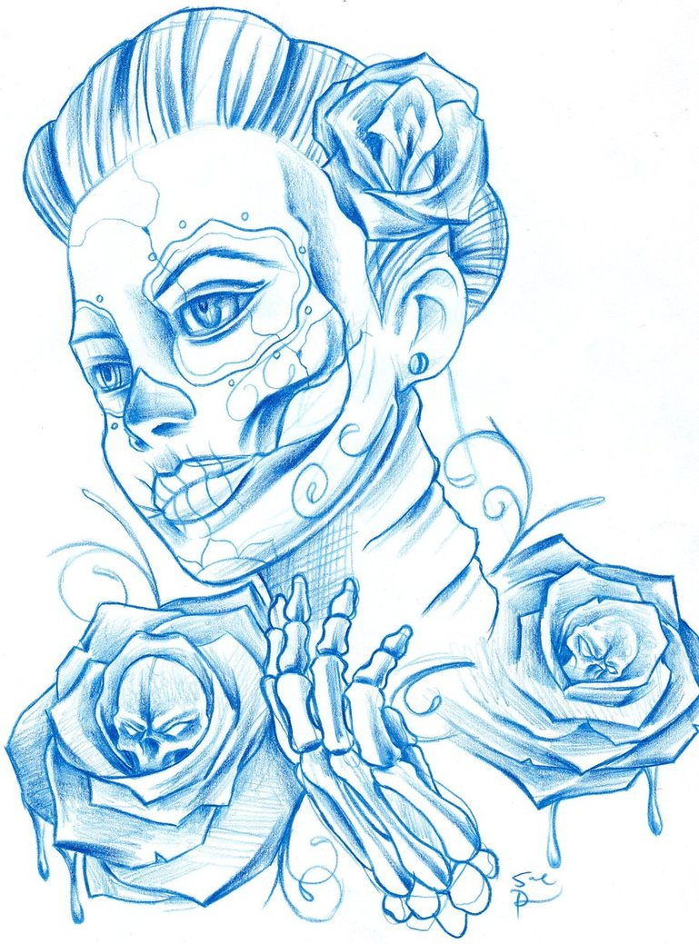 769x1039 Day Of The Dead Women By Allinkdup