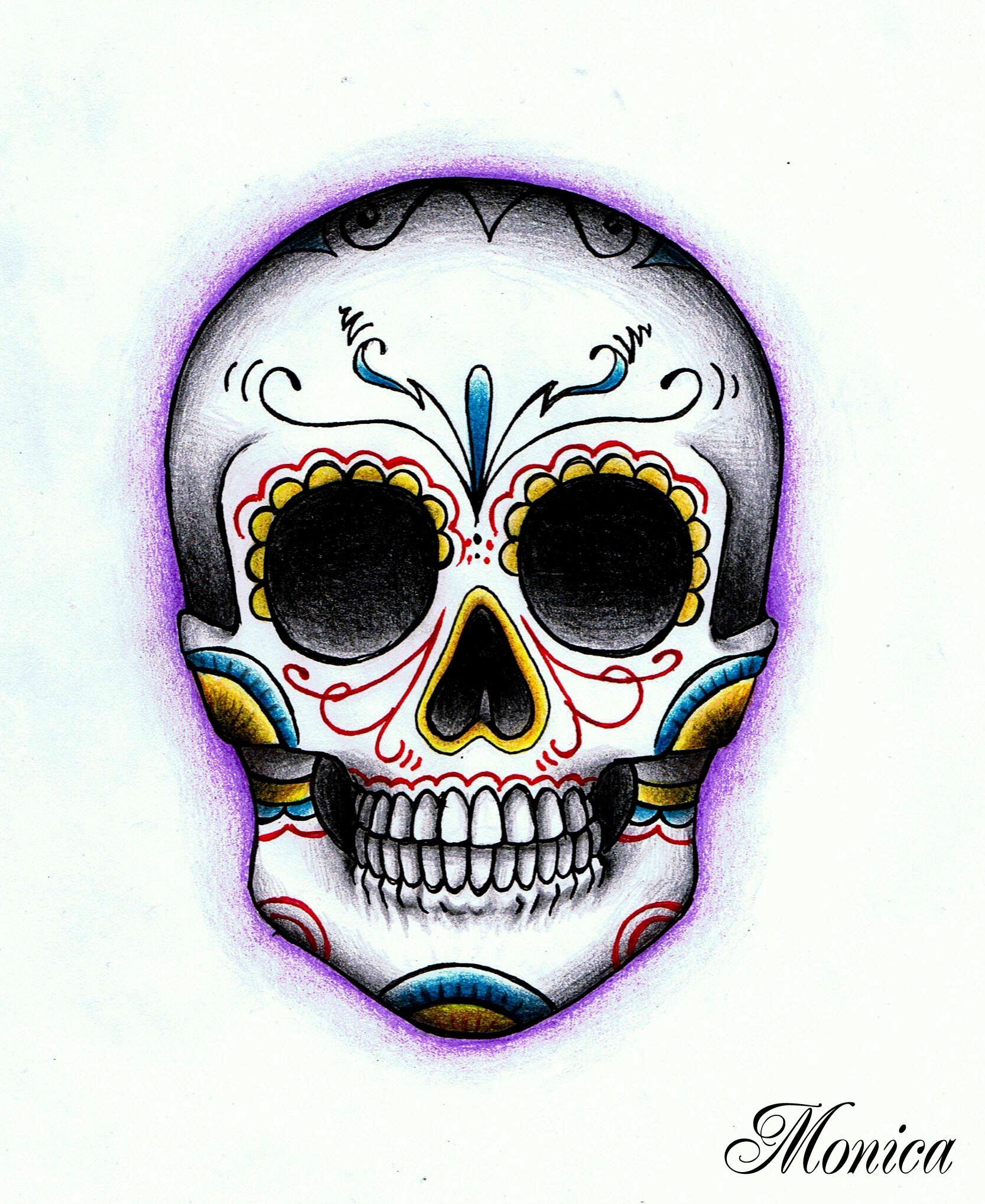 1667x2037 Day of the dead skulls With Day Of Dead And