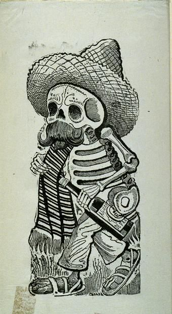 340x620 Day Of The Dead Folk Art Drawing Famous Mexican Artists Jose G