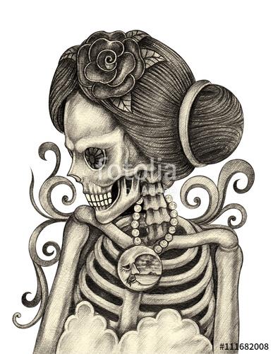 387x500 Skull Art Day Of The Dead.art Design Women Skull Action Smiley