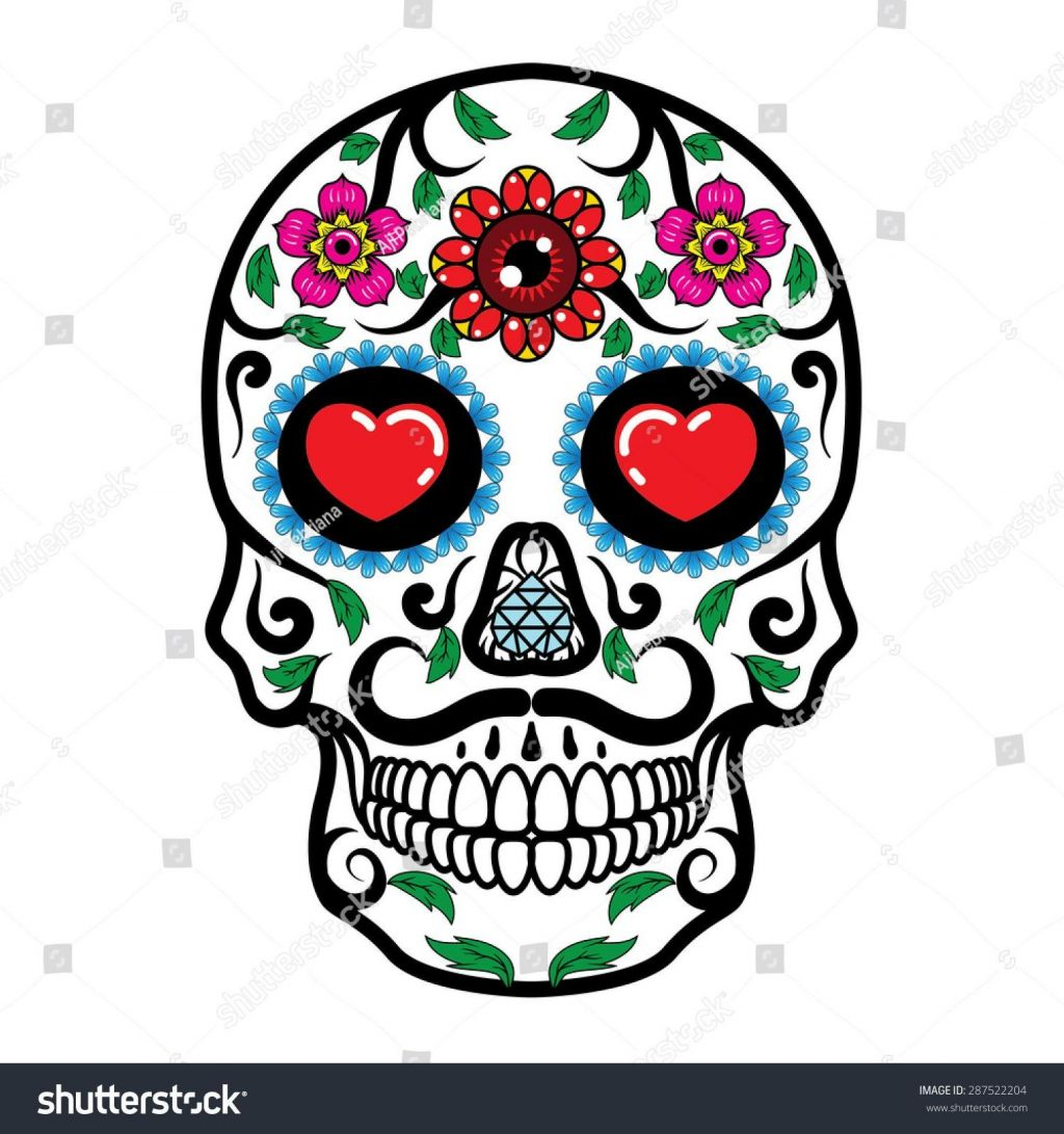 1024x1092 Best Hd Top Stock Vector Day Of The Dead Skull Drawing Photos