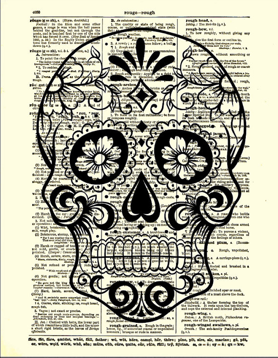 570x733 Sugar Skull With Flowers Day Of The Dead By Reimaginationprints