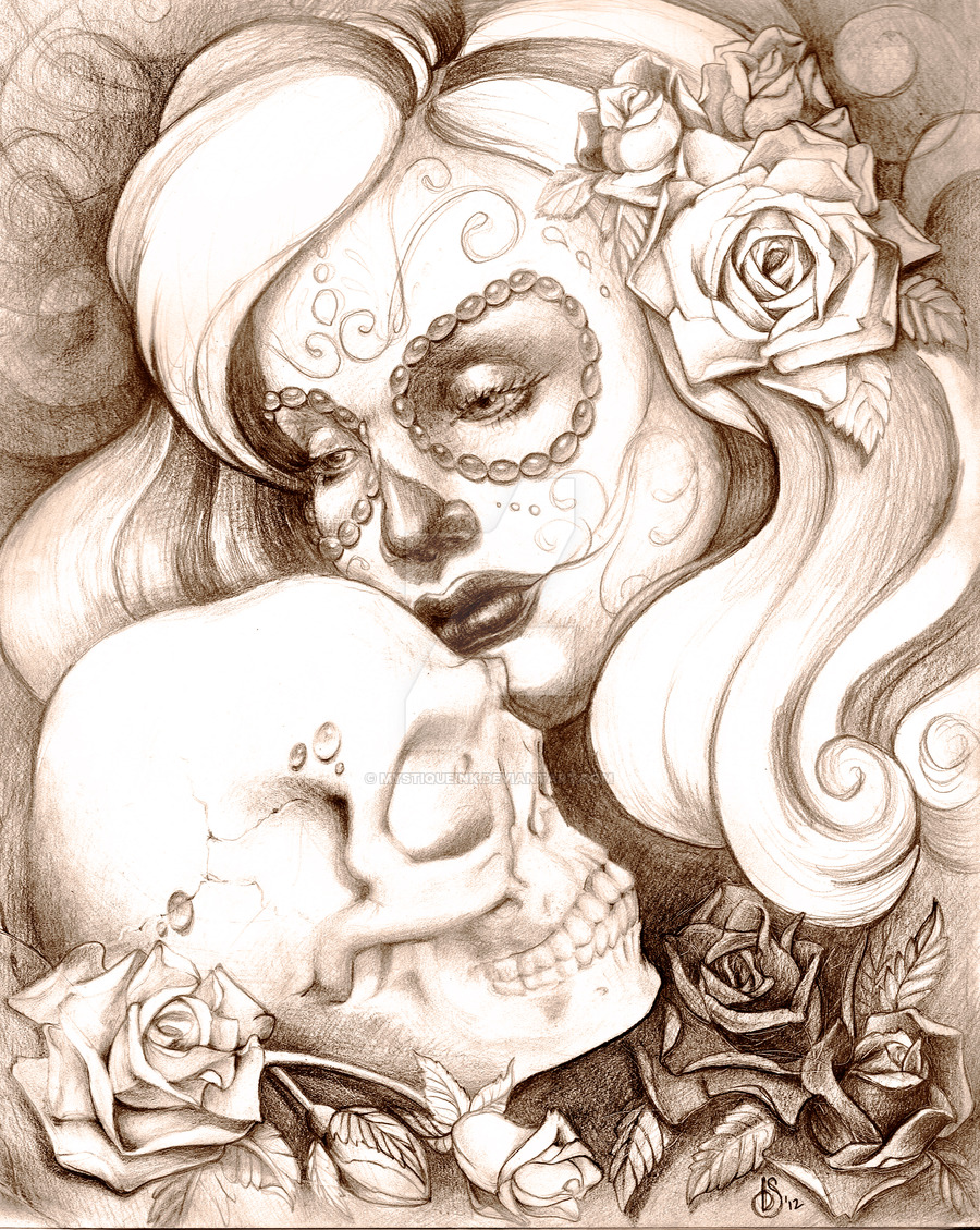 900x1129 Of The Dead With Skull By Mystiqueink
