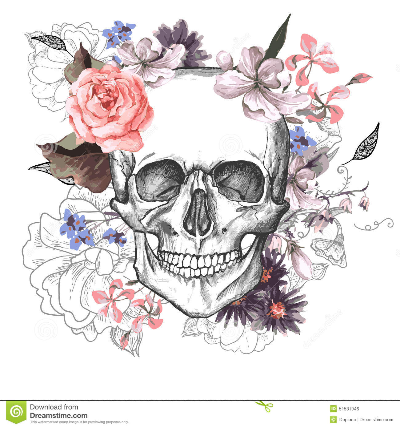 1300x1390 Day Of The Dead Skull Royalty Free Stock Image