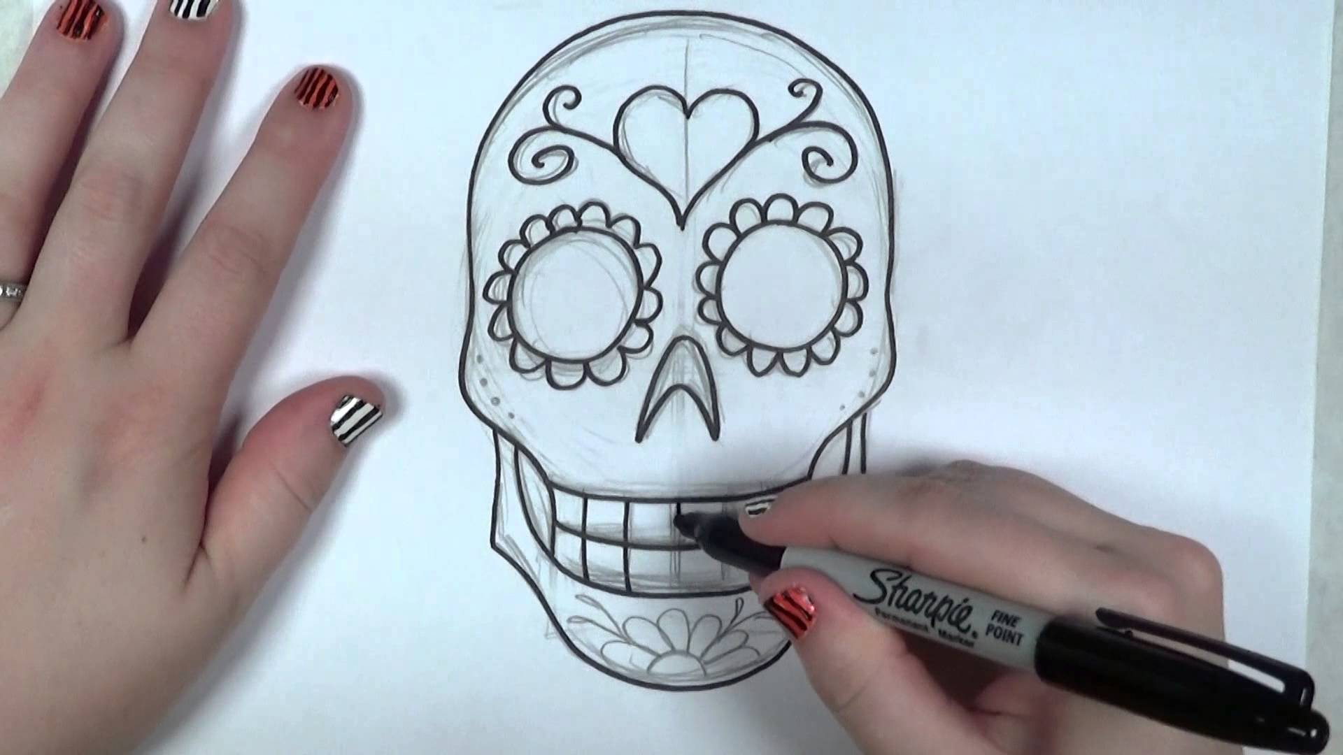 1920x1080 Learn How To Draw And Color A Sugar Skull