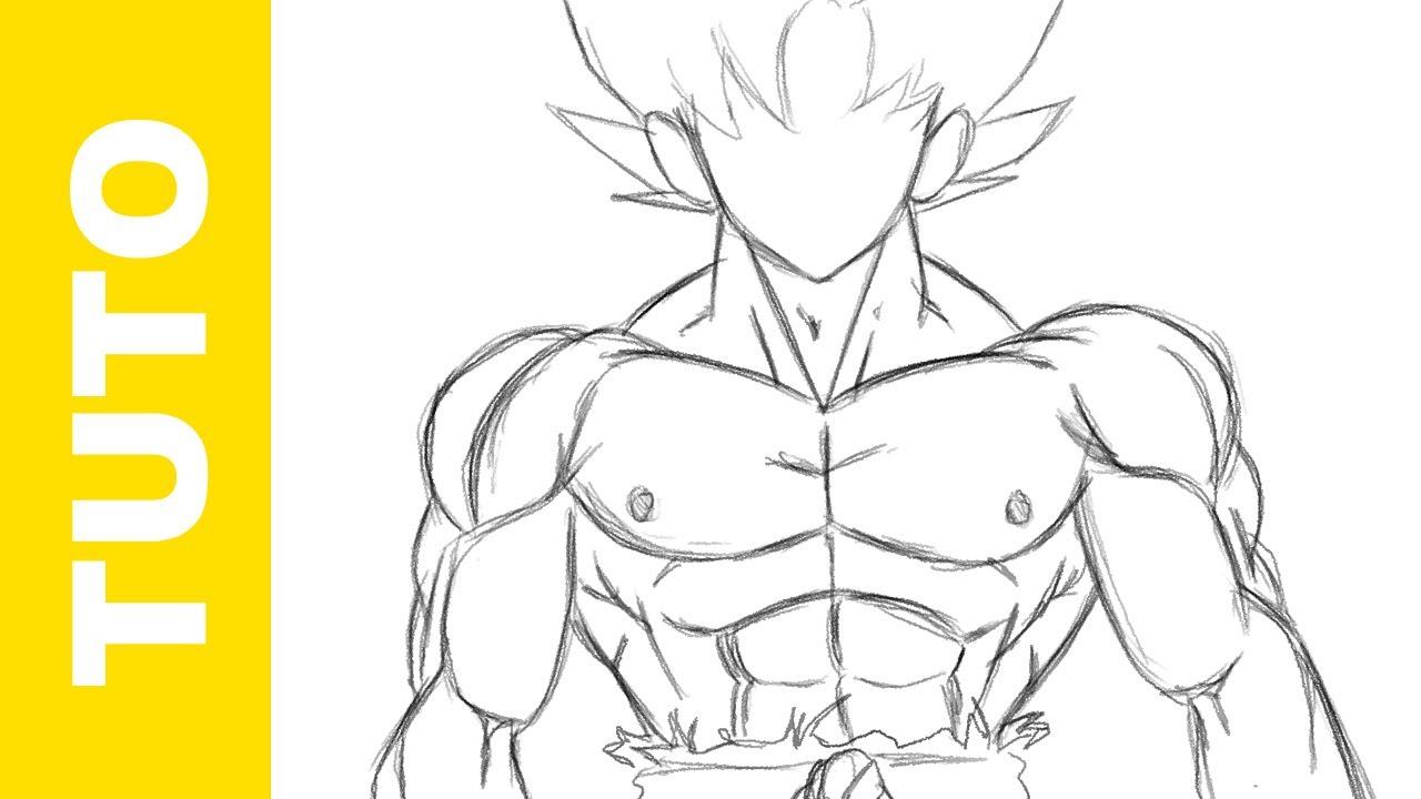 1280x720 Comment Dessiner Le Corps De Goku Dbz