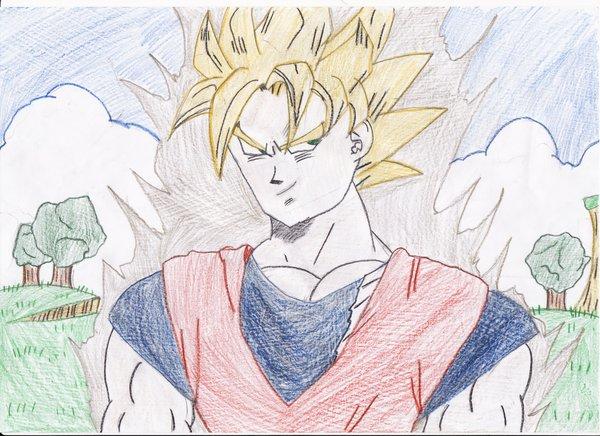 600x436 Dbz Goku Drawing By Smashbros2008