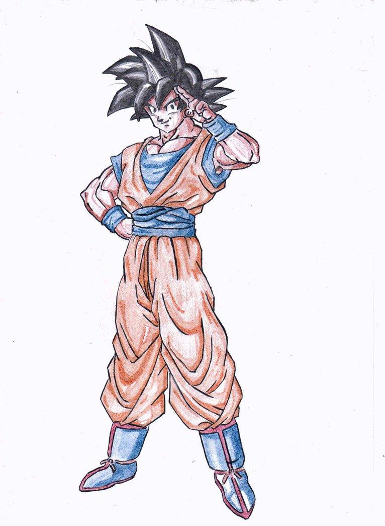 766x1044 Son Goku (End Of Dbz) Pencil Crayon By Vishalk4197