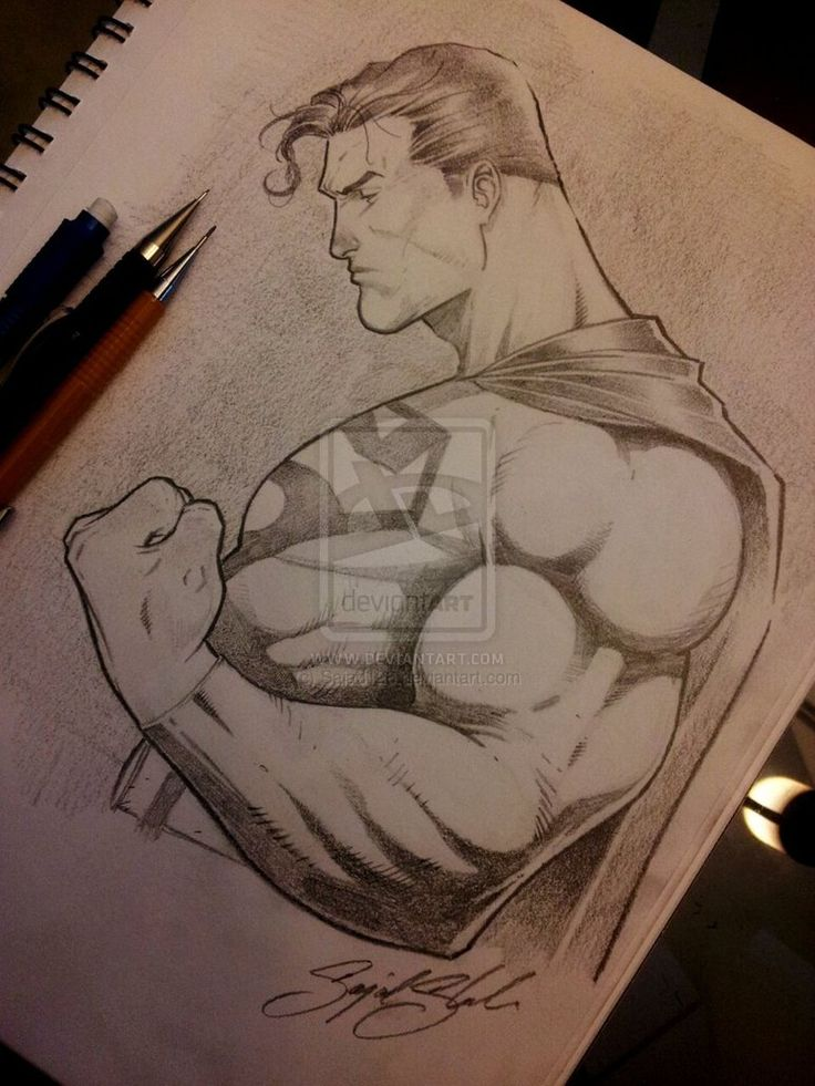 736x981 Gallery Draw Paper Pencil Superman,