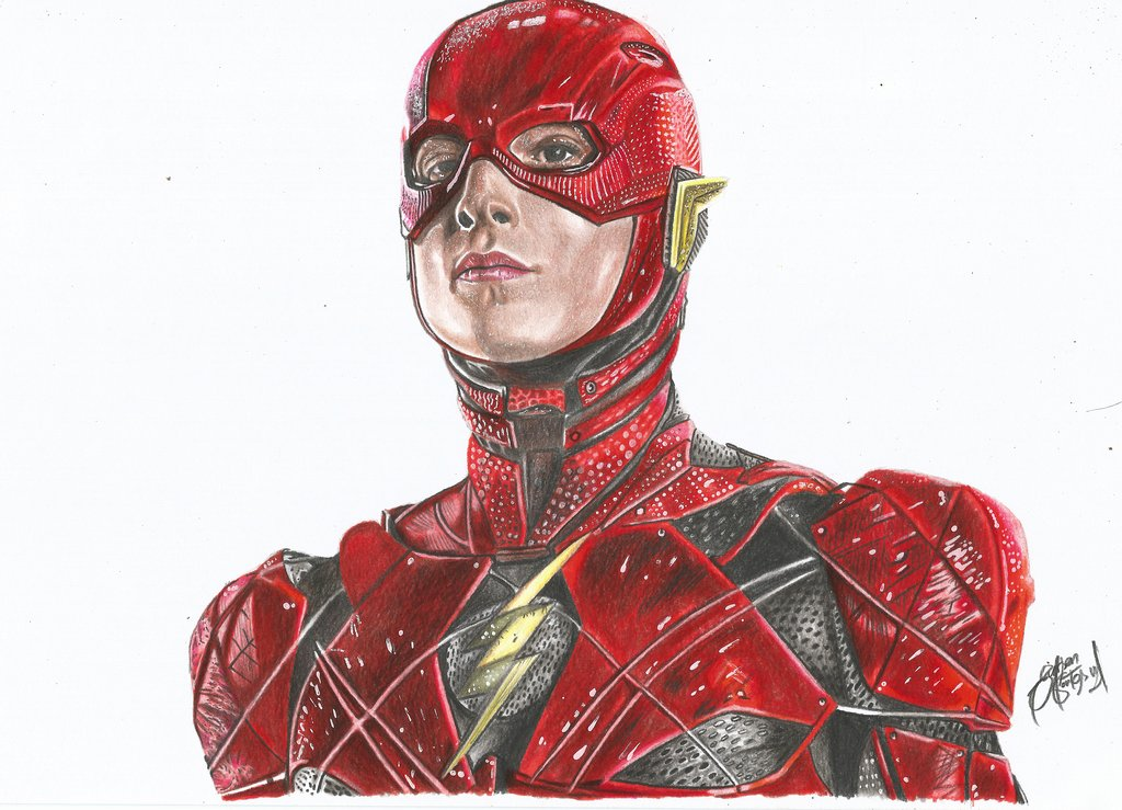 1024x739 Speed Drawing The Flash