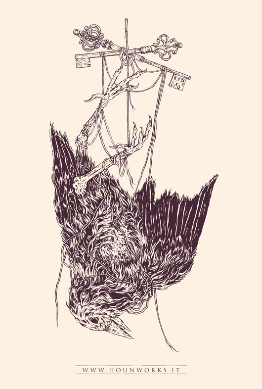 530x786 Dead Bird Illustration On Behance