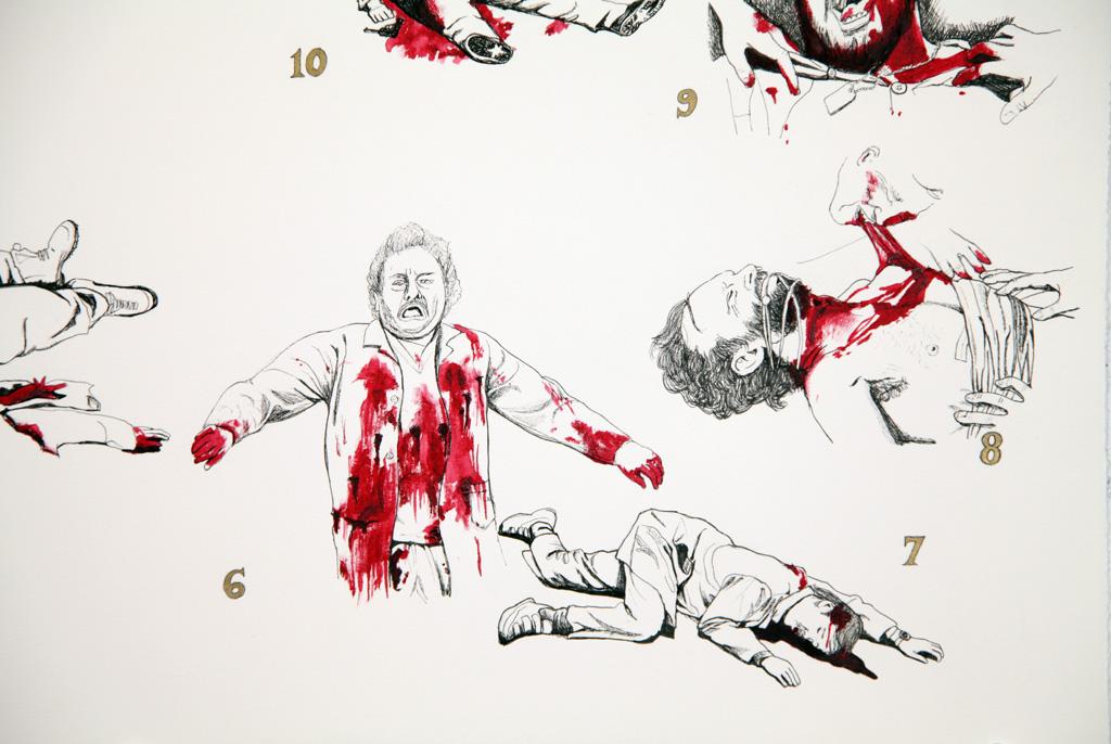 1024x686 Jillian Mcdonald Blog Blog Archive Body Count Drawings, Zombie
