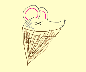 300x250 Dead Mouse In An Icecream Cone