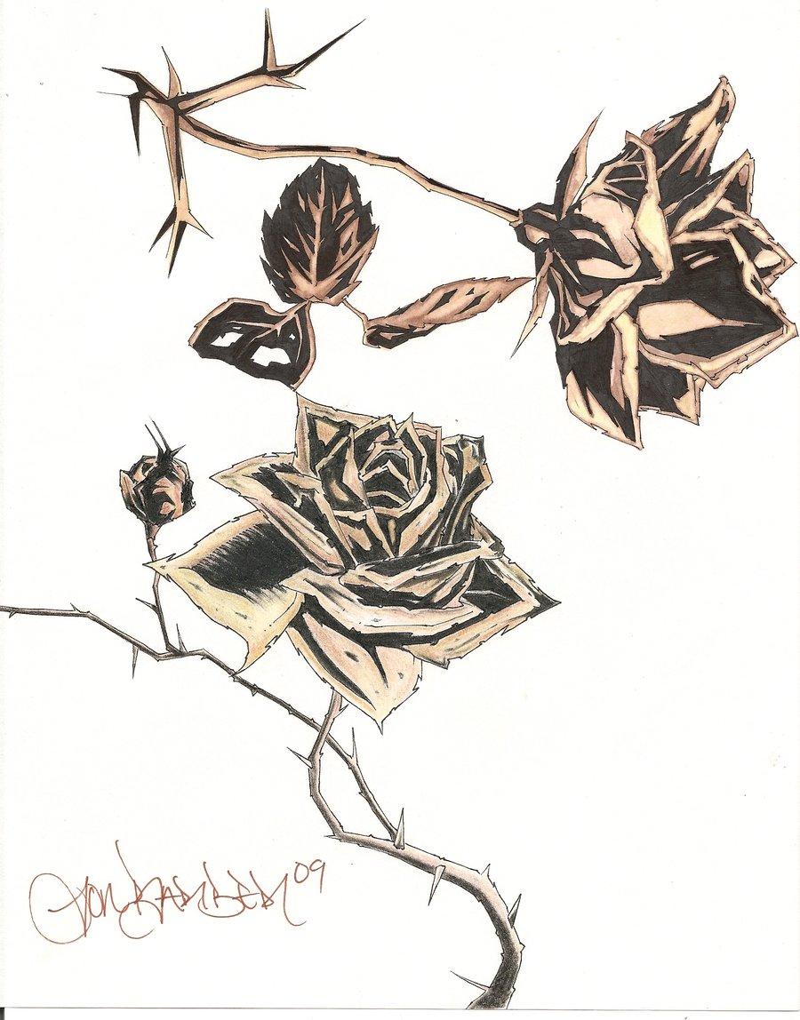 900x1148 Dead Flower Tattoo Designs