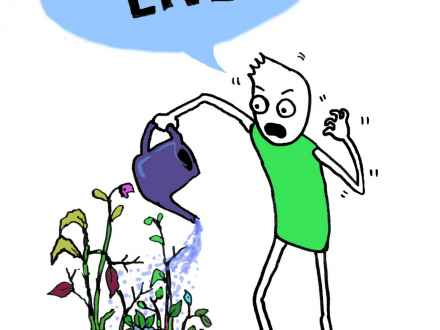 440x330 Dying Flower Drawing, Dying Plants Cartoon