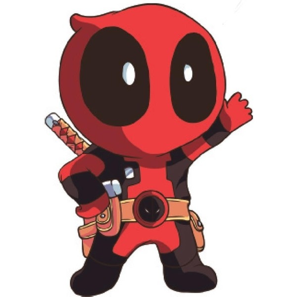 This is a graphic of Genius Chibi Deadpool Drawing