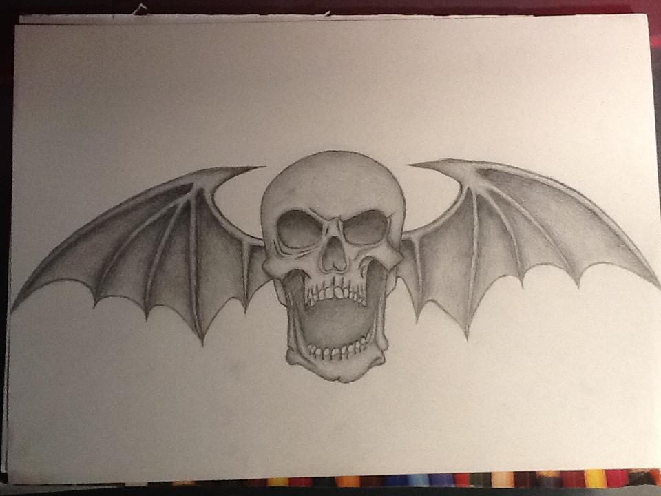 960x720 A7x Deathbat Drawing By Captainobviousz